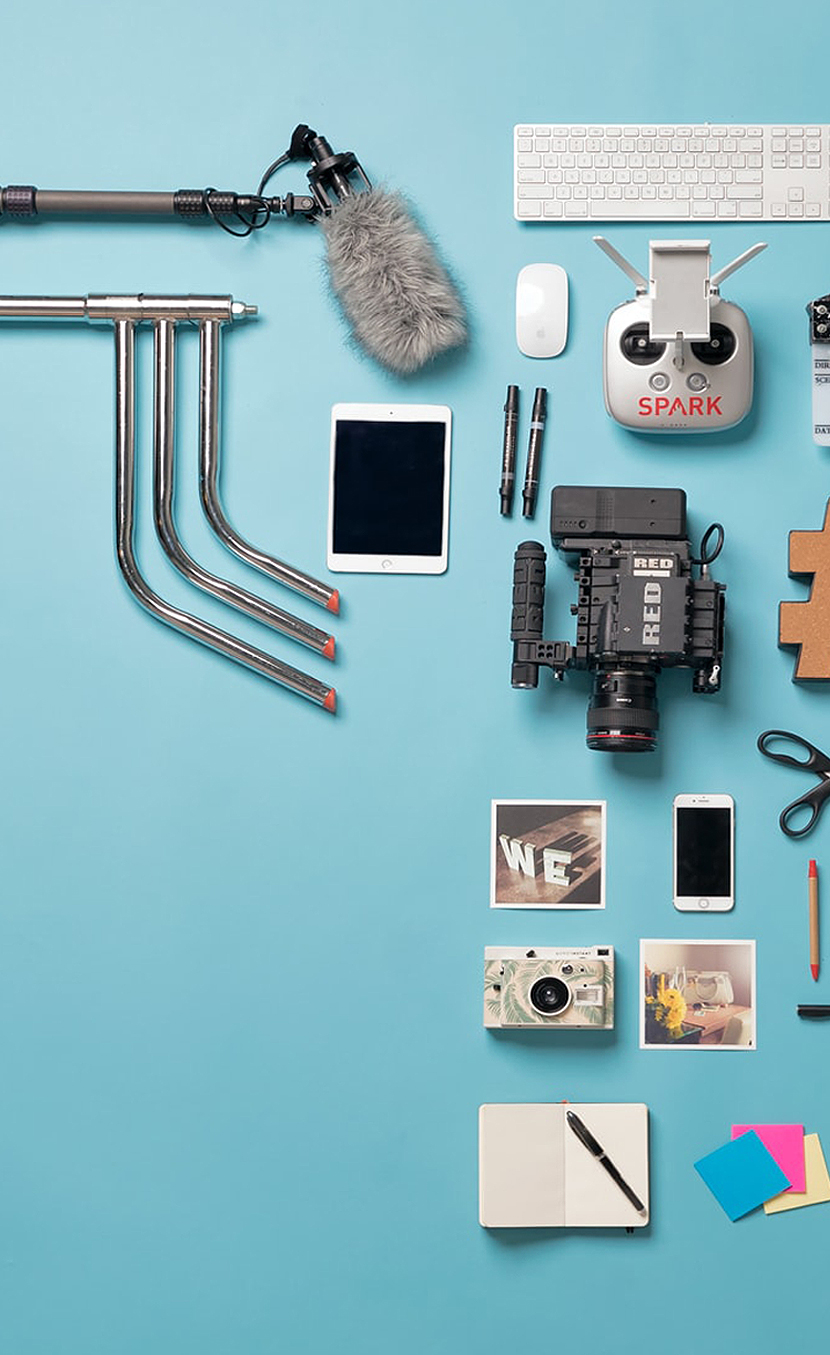 A grid of many of the tools SPARK Advertising uses to create solutions for clients