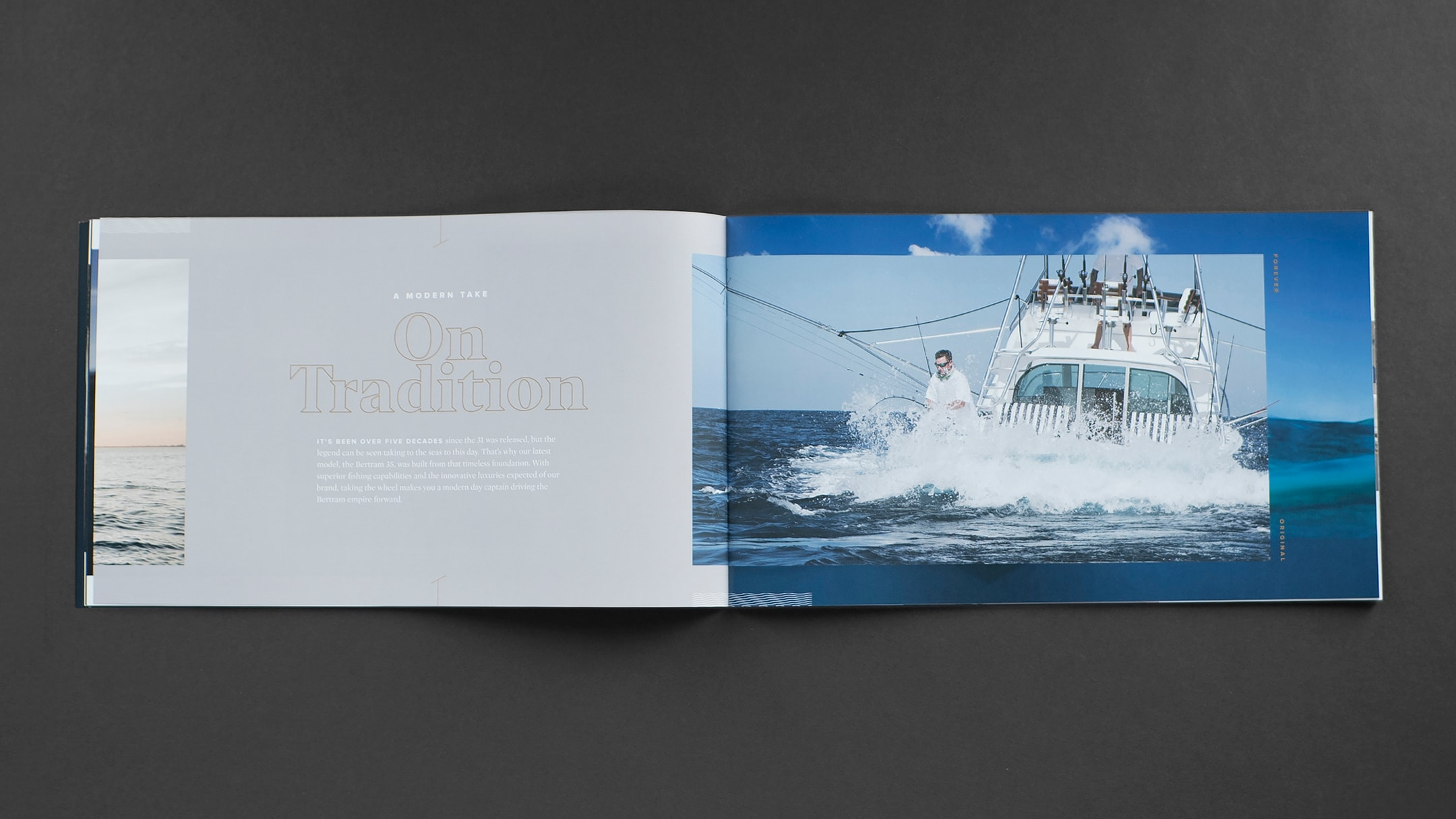 Bertram brand booklet - an example of collateral used in the boat advertising.