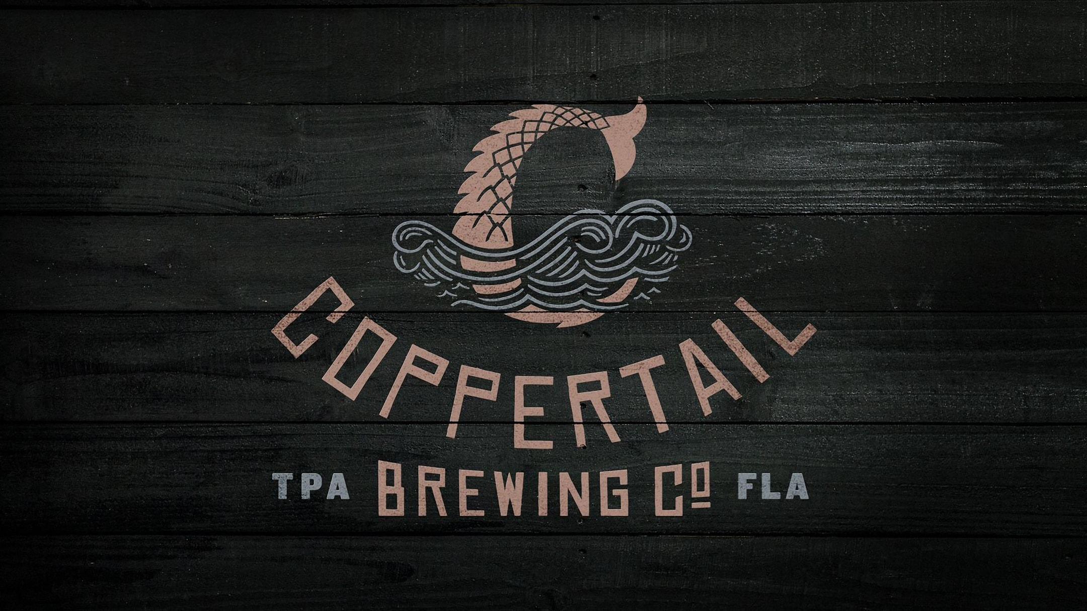Logo design for coppertail beer branding