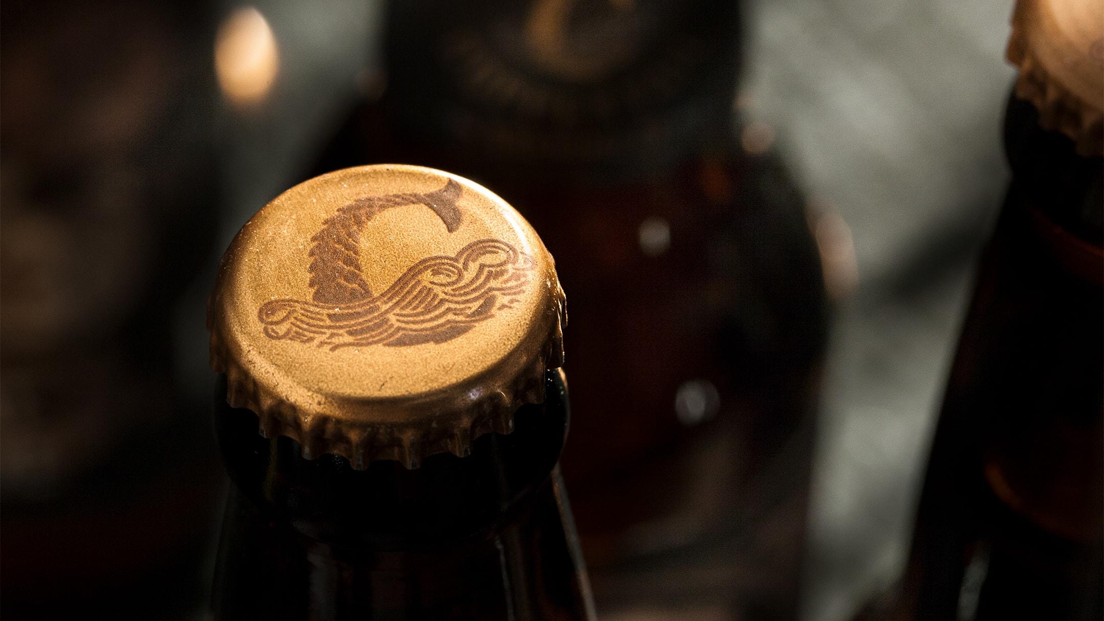 Coppertail bottle cap