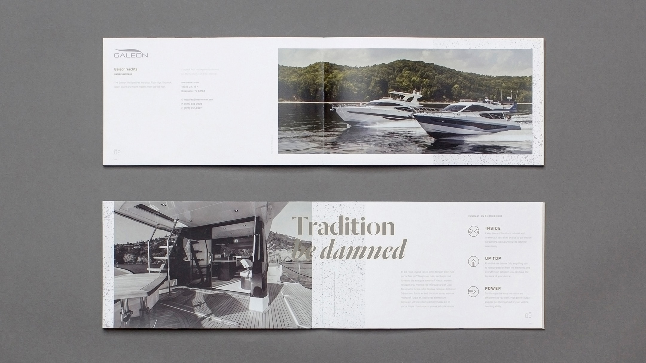 Galeon Yachts brand book created for their break the mold yacht campaign.