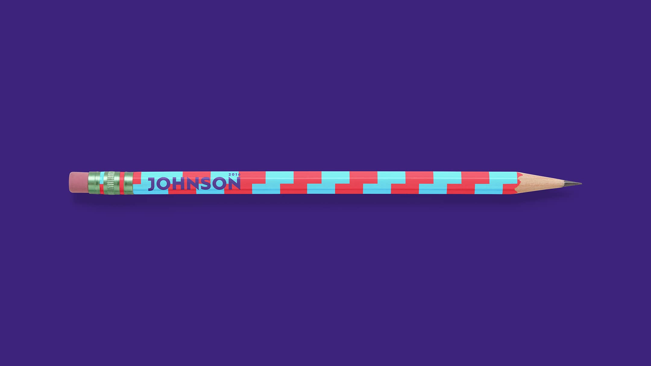 Gary Johnson spec campaign branded pencil