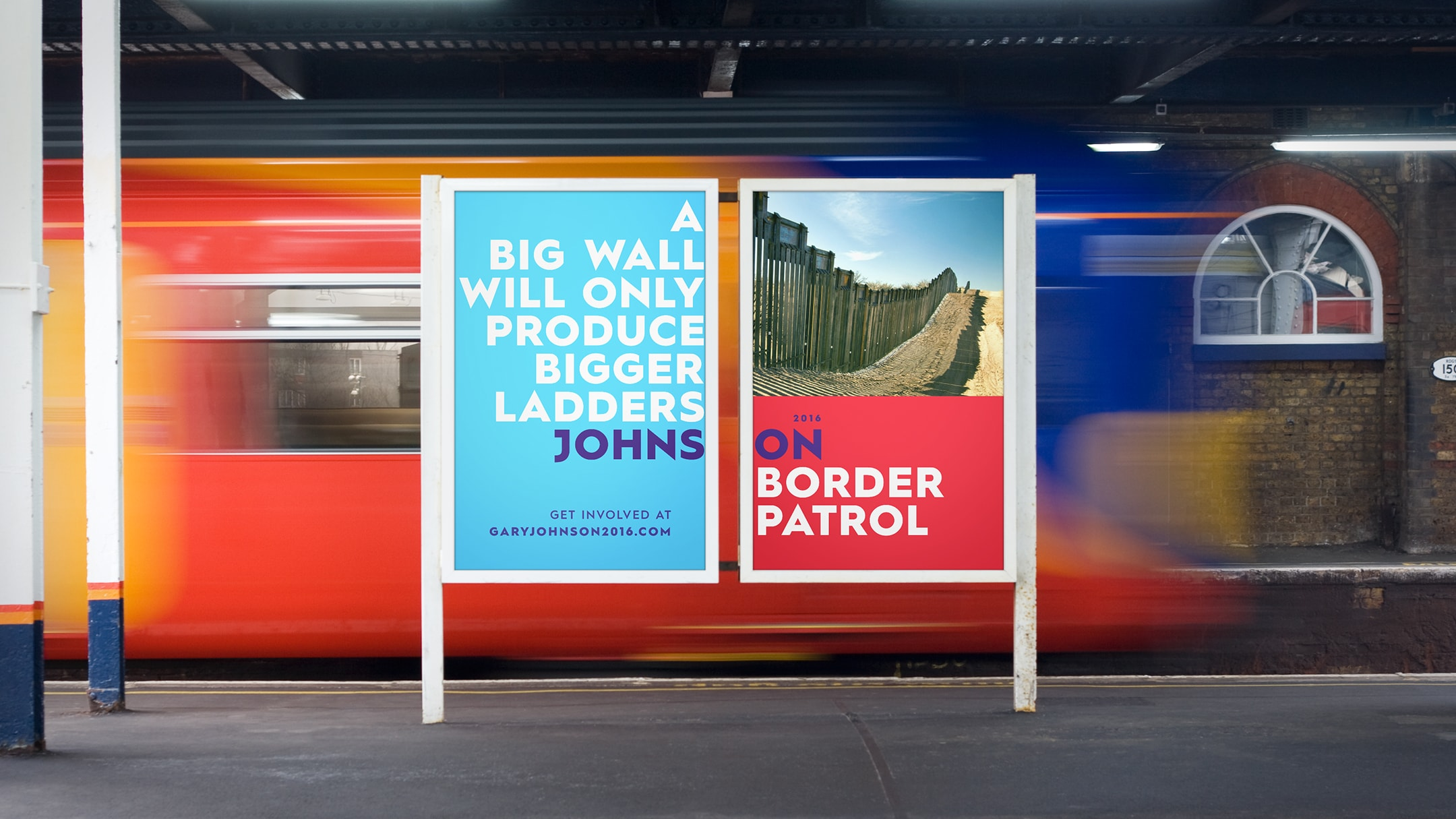 Gary Johnson spec campaign metro ad.