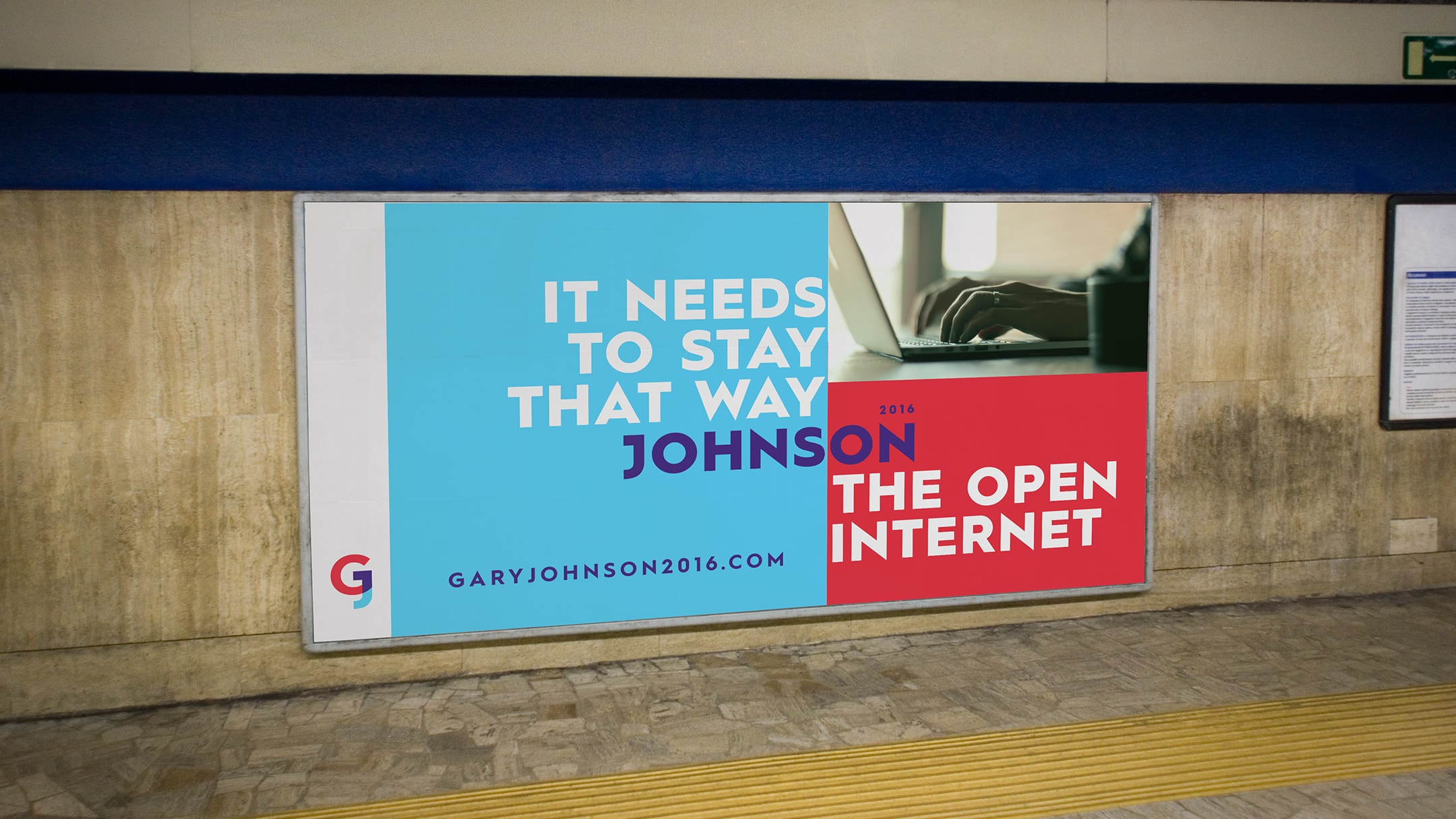 Gary Johnson spec campaign metro ad