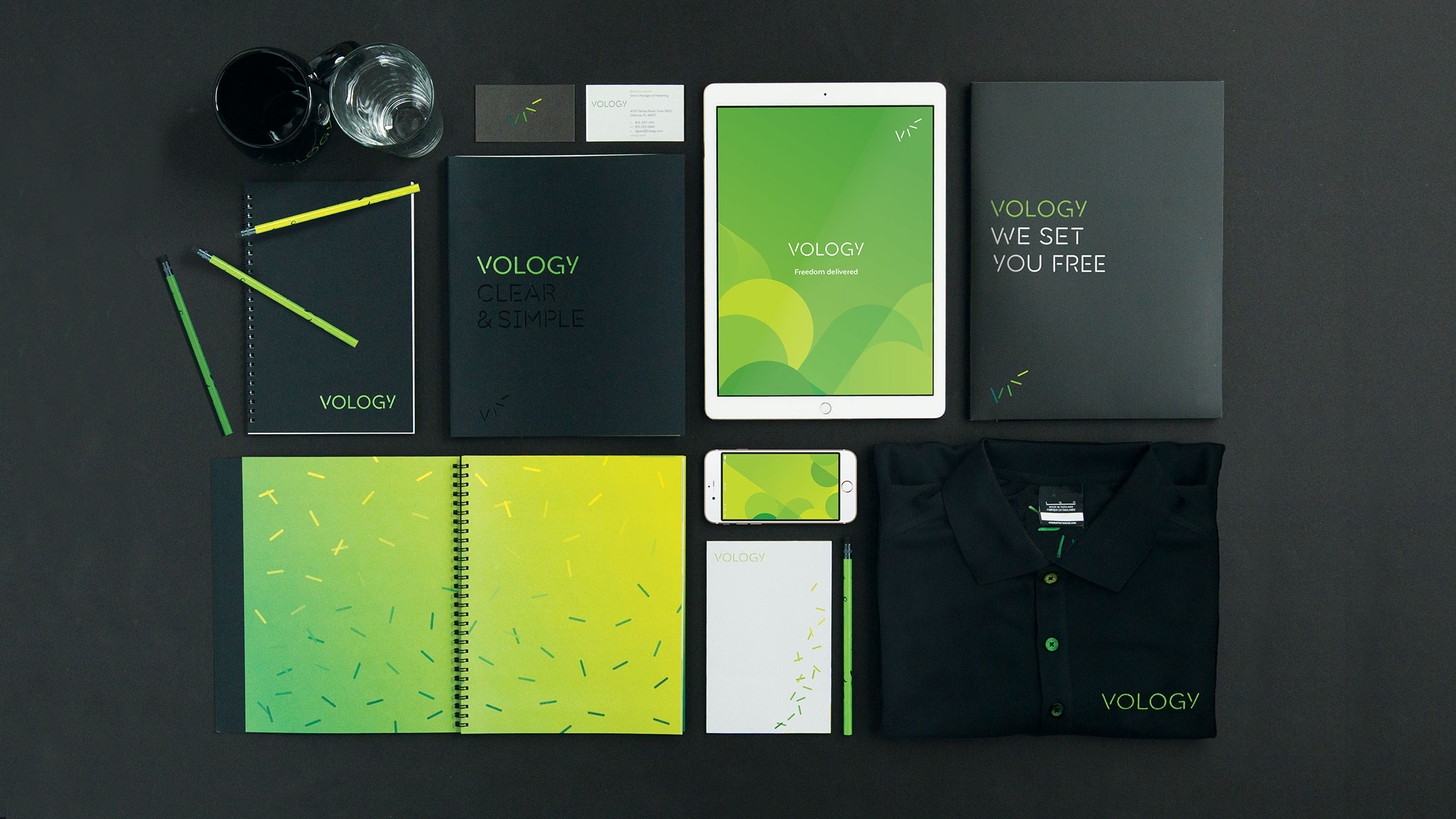 Vology branded collateral