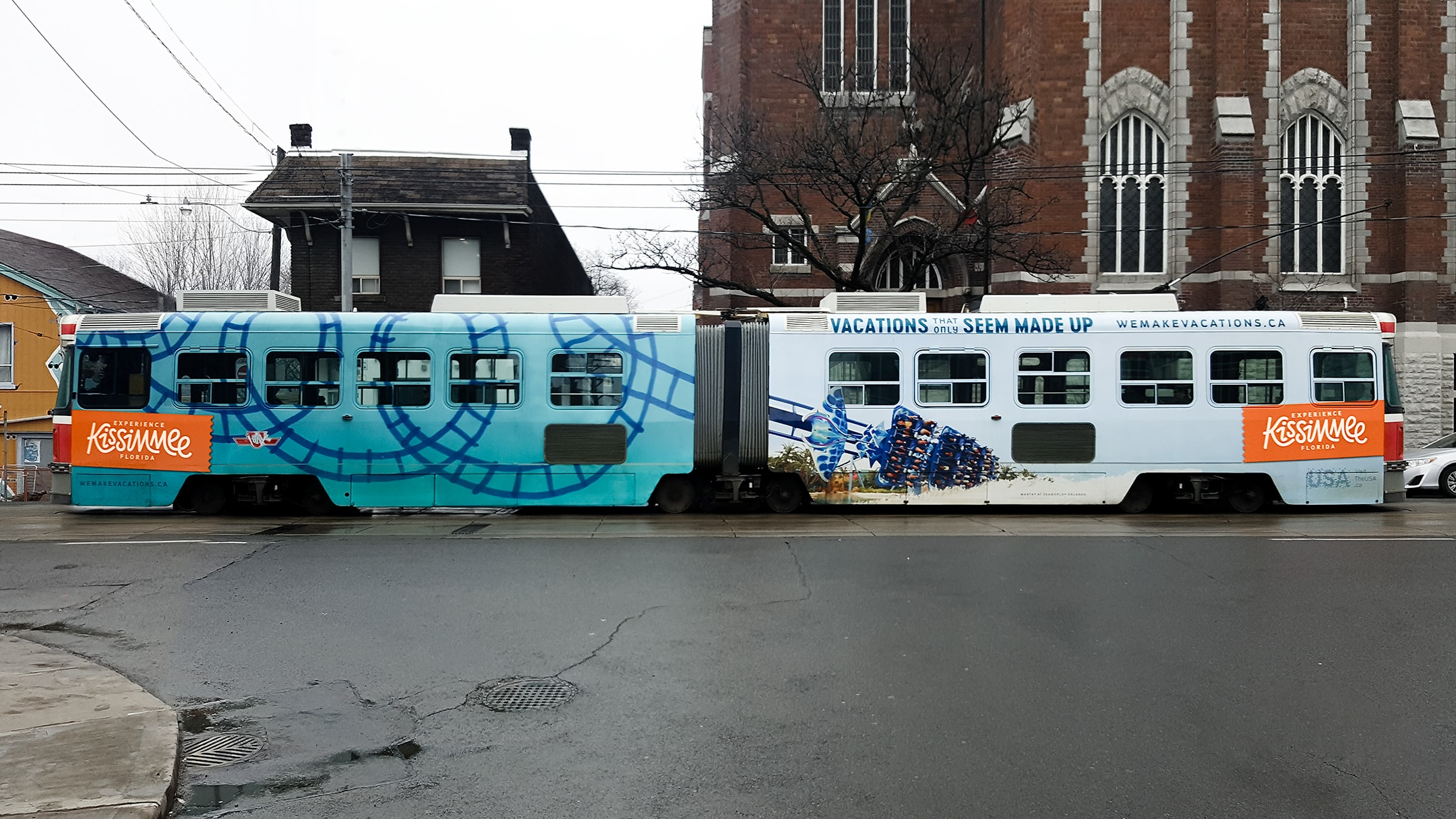 Experience Kissimmee campaign on a bus wrap - an example of the creative campaign's media planning.