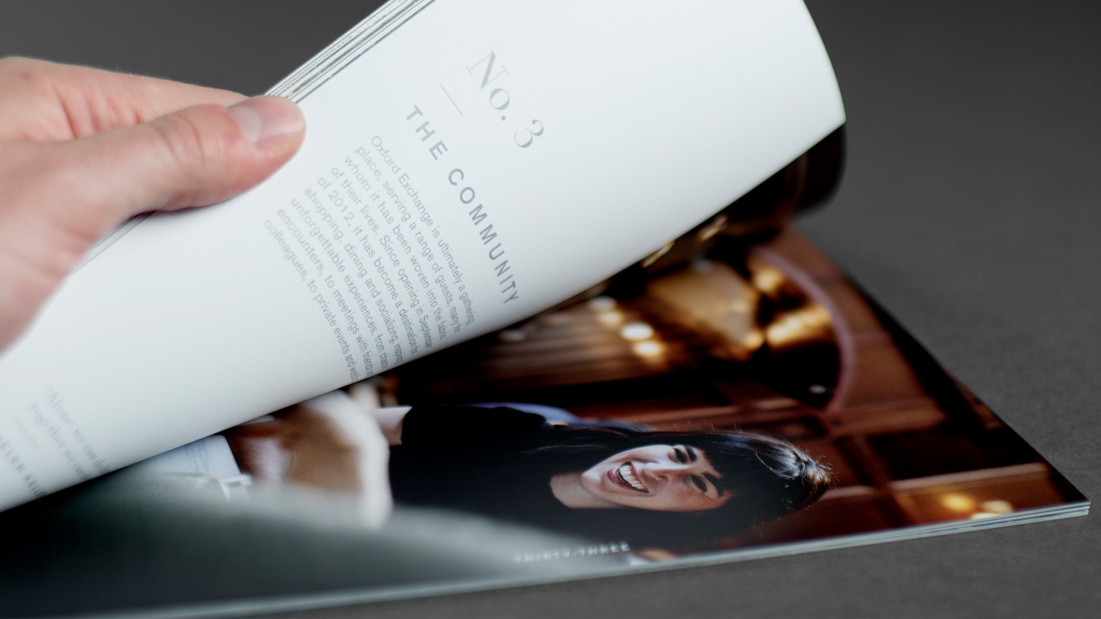 Open spread of book layout for stylish Florida restaurant and store.