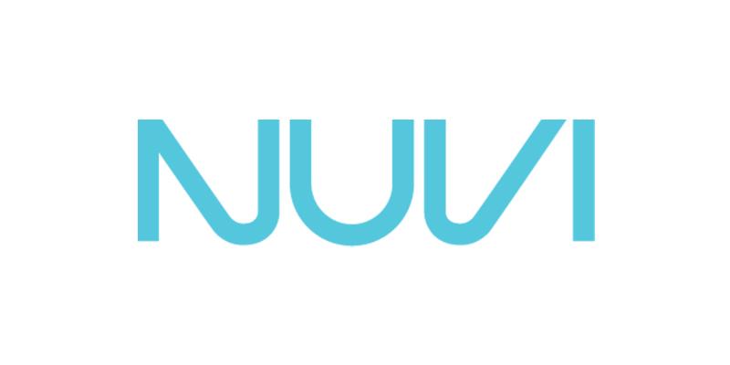 Blue Nuvi logo.