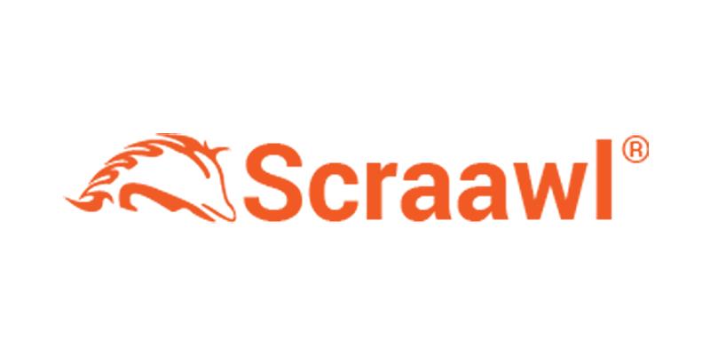 Orange Scraawl logo.