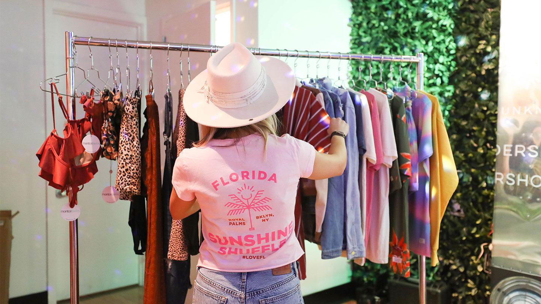 Sunshine Shuffle Clothing Rack Vendor