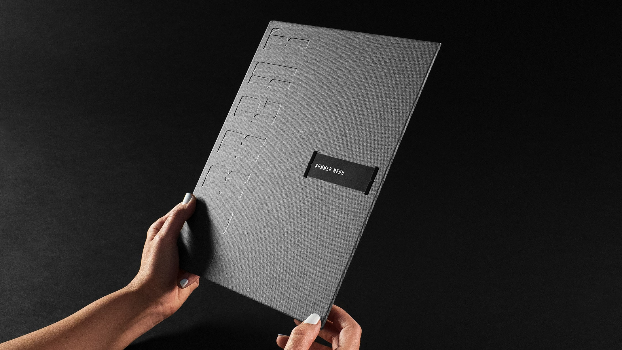 Current hotel branded menu, an example of how hospitality branding is more than logo design.