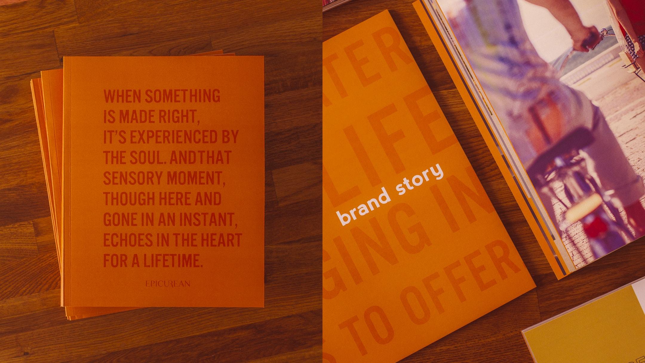 Epicurean Hotel brand book cover
