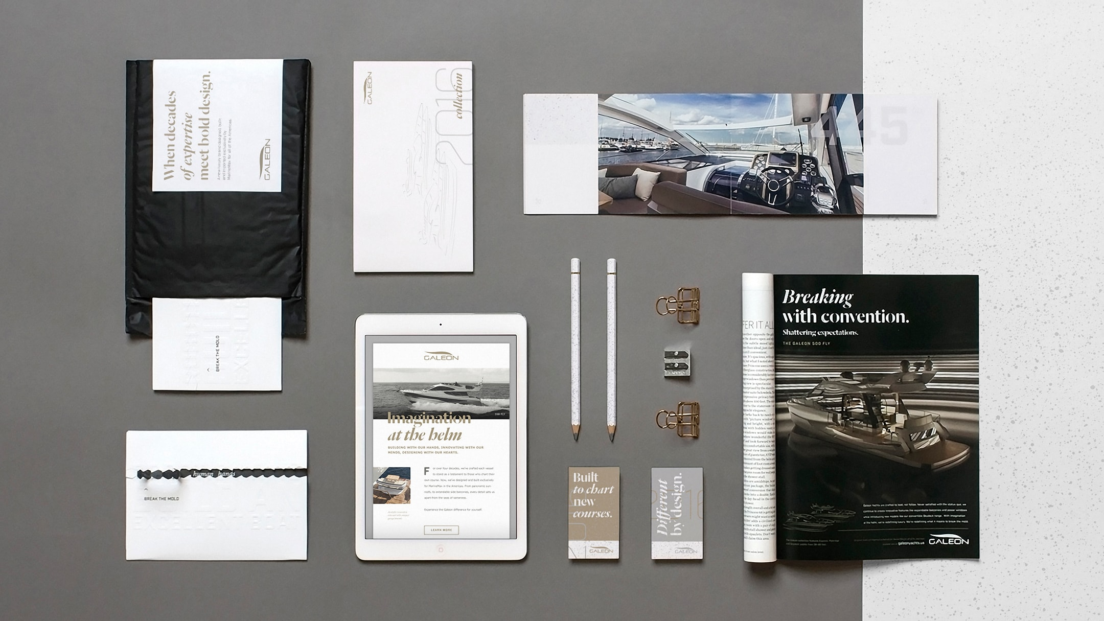 Galeon Yachts brand collateral