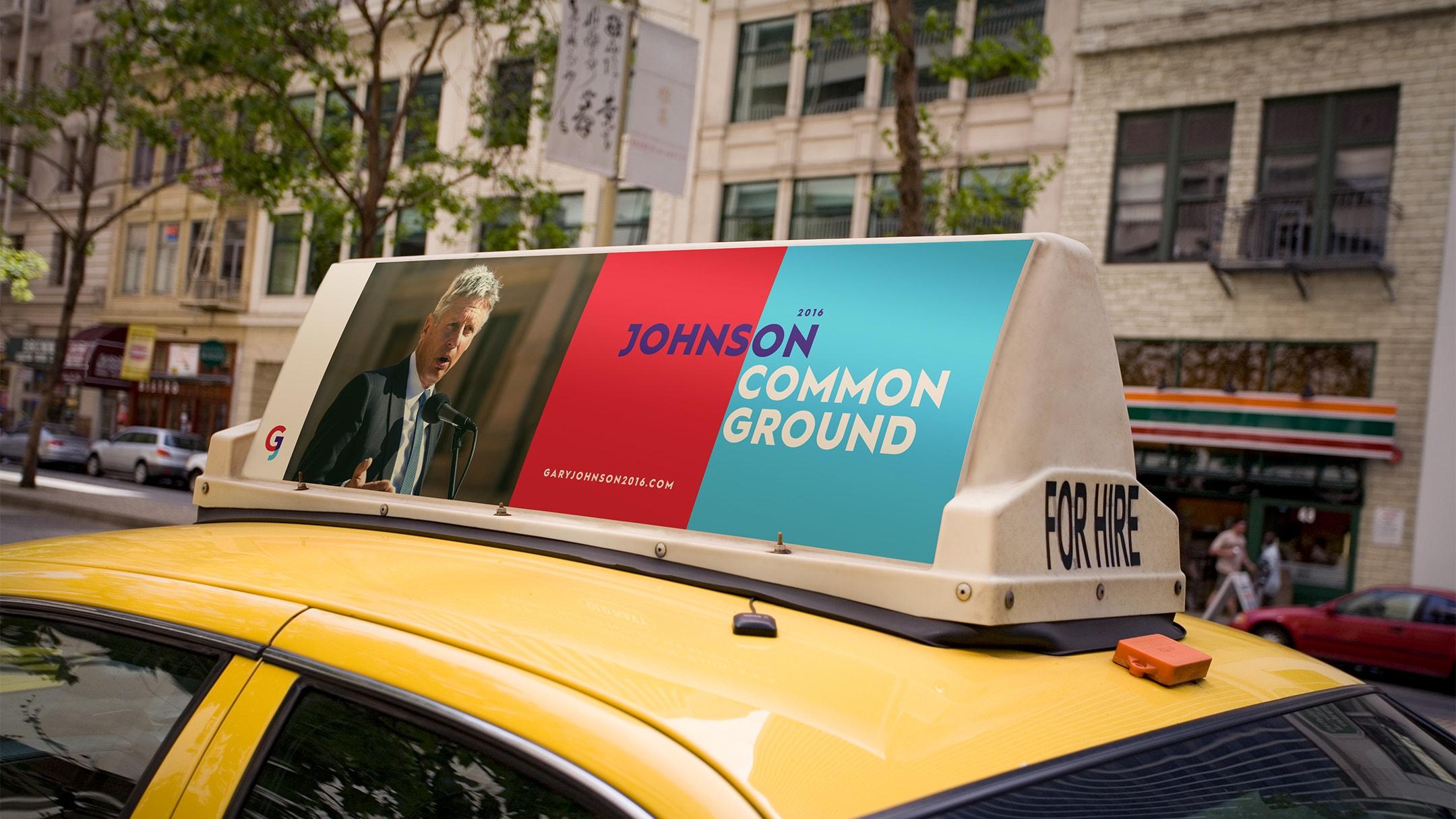 Gary Johnson spec campaign taxi ad