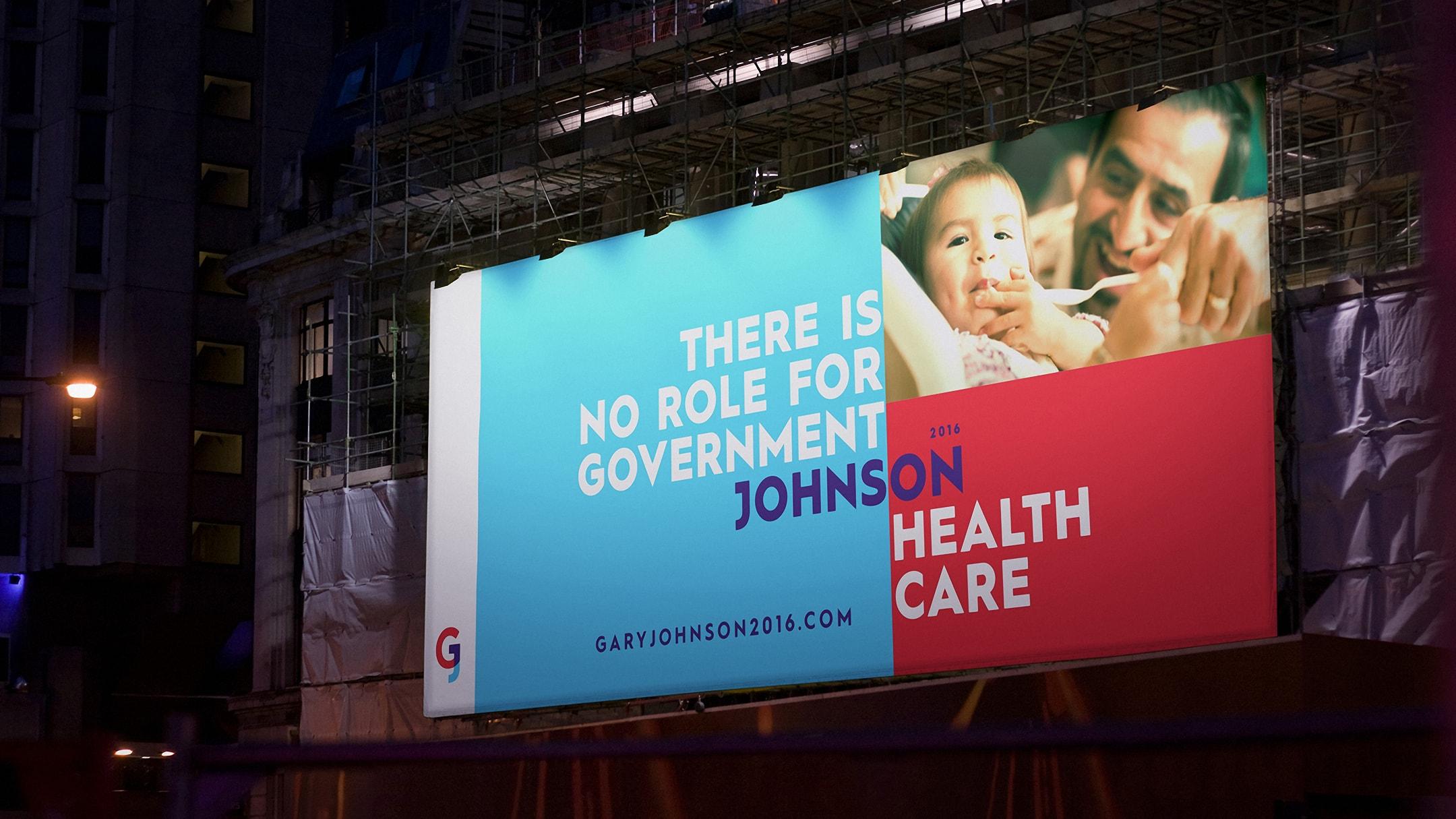 Gary Johnson spec campaign billboard