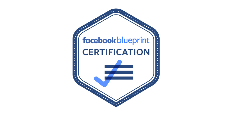 Facebook blueprint certification badge.