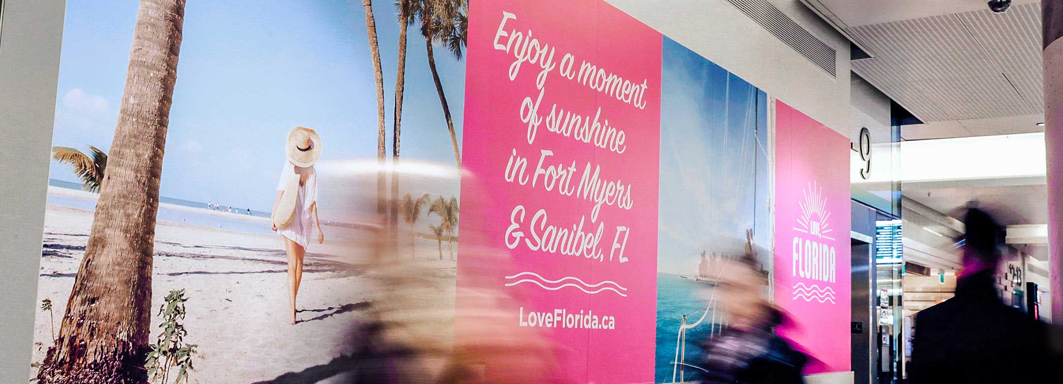 Florida Day in Canada's Integrated Marketing Campaign Creative Example - Train Station Banner