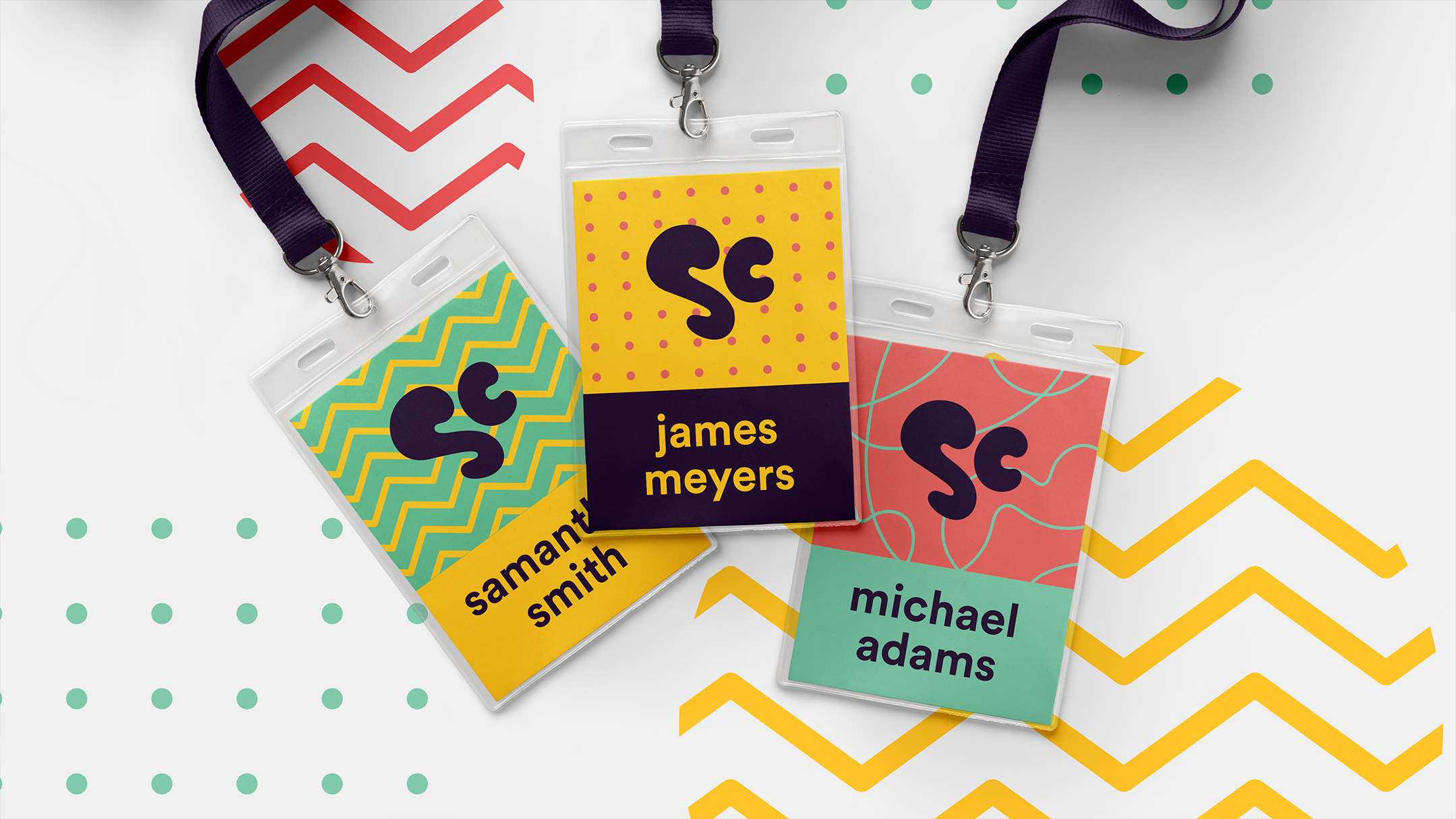 name tags —from our nonprofit rebrand initiative, STOKED.